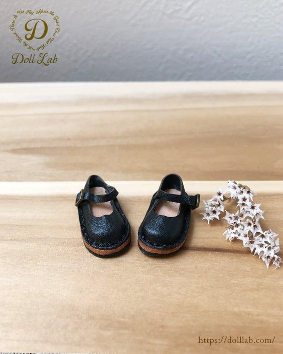ストラップシューズ ブラック [ブライス] ドール 靴 本革 D2005-BLK-30