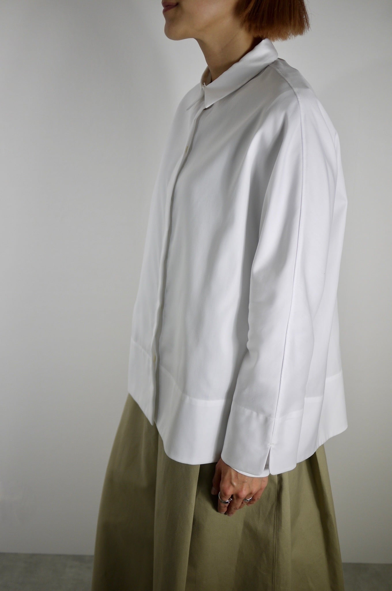 TENNE HANDCRAFTED MODERN   Gusset Sleeve Shirt With Collar