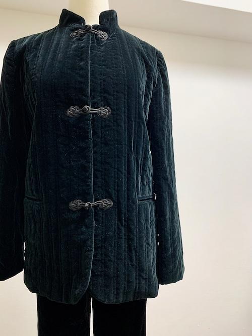 Vintage Velvet Quilting China Jacket