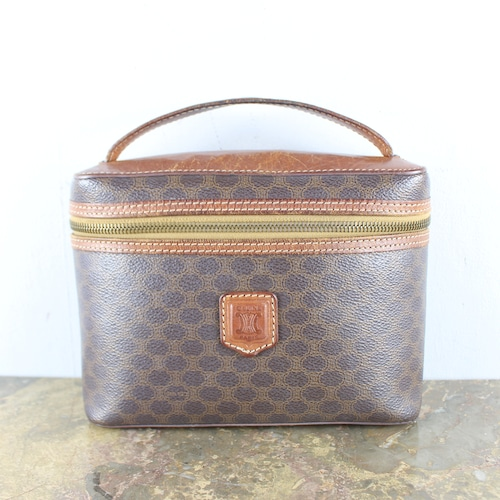 .OLD CELINE MACADAM PATTERNED BANITY BAG MADE IN ITALY/オールドセリーヌマカダム柄バニティバッグ2000000051901