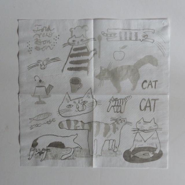 【トラネコボンボン 】ナプキン 「猫」