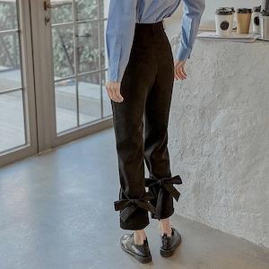ribbon ruff pants