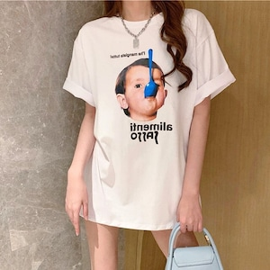 【トップス】キュートかわいいファッションプリント半袖Tシャツ49568798