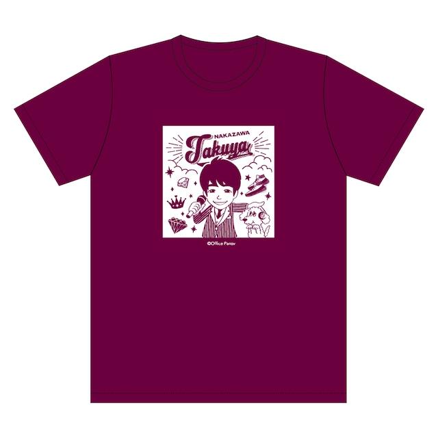 イラストTシャツ(エンジ)