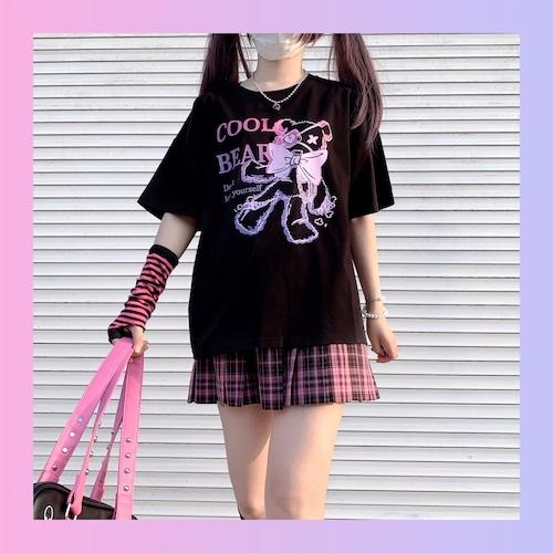 【お取り寄せ】病みかわ 眼帯くまちゃん Tシャツ 2色