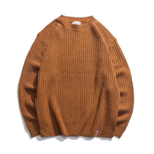 【UNISEX】ラウンドネック プルオーバー セーター【9colors】