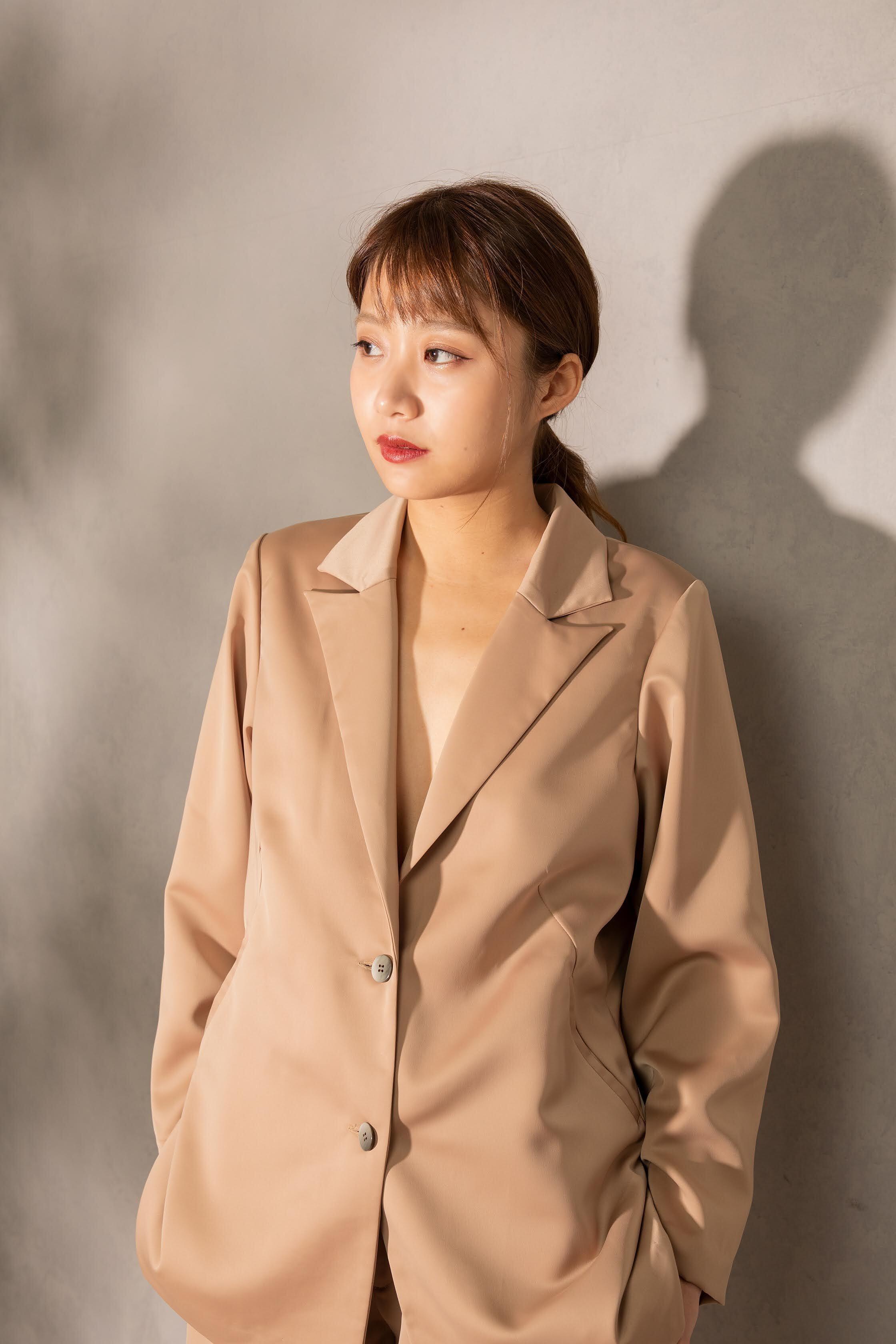 tailored satin jacket