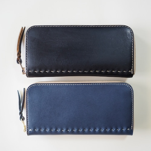 コの字ファスナーの定番長財布 / ネイビー