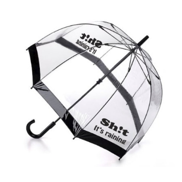 Sh!t ロゴ クリア  ドーム型  ビニール傘 手開き