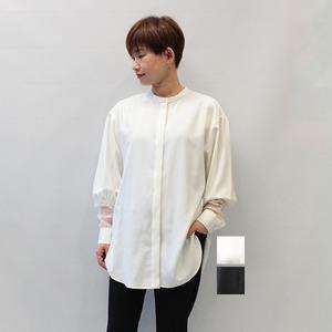 RIM.ARK(リムアーク) Stand collar lace シャツ 2021秋冬新作 [送料無料]