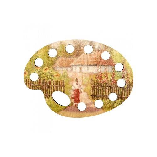 刺繍糸オーガナイザー【女の子と家】