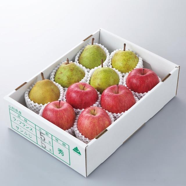 完熟ふじりんごとラ・フランス詰合せ