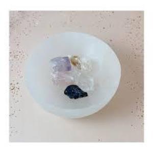 Ariana Ost Medium Polished Selenite Charging Crystal Bowl セレナイト クリスタルボウル