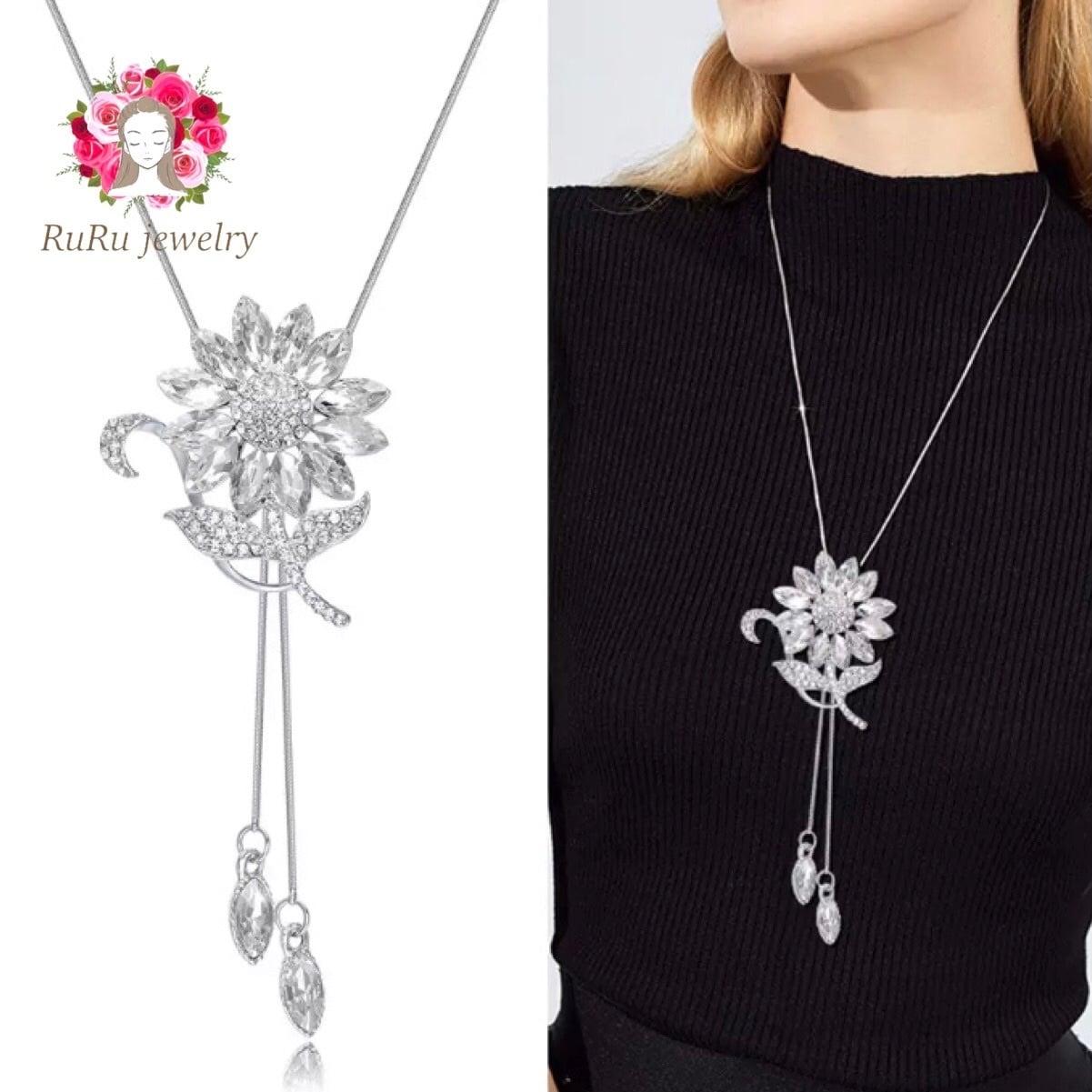 long lariette necklace / sunflower
