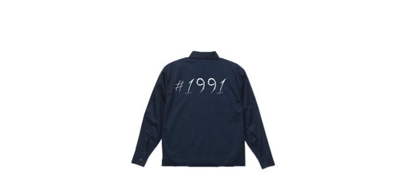 coguchi 1991 open collar shirt (NVY/WH)