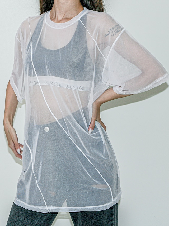 【UNISEX - 1 Size】WAVE SHEER TEE / 2colors