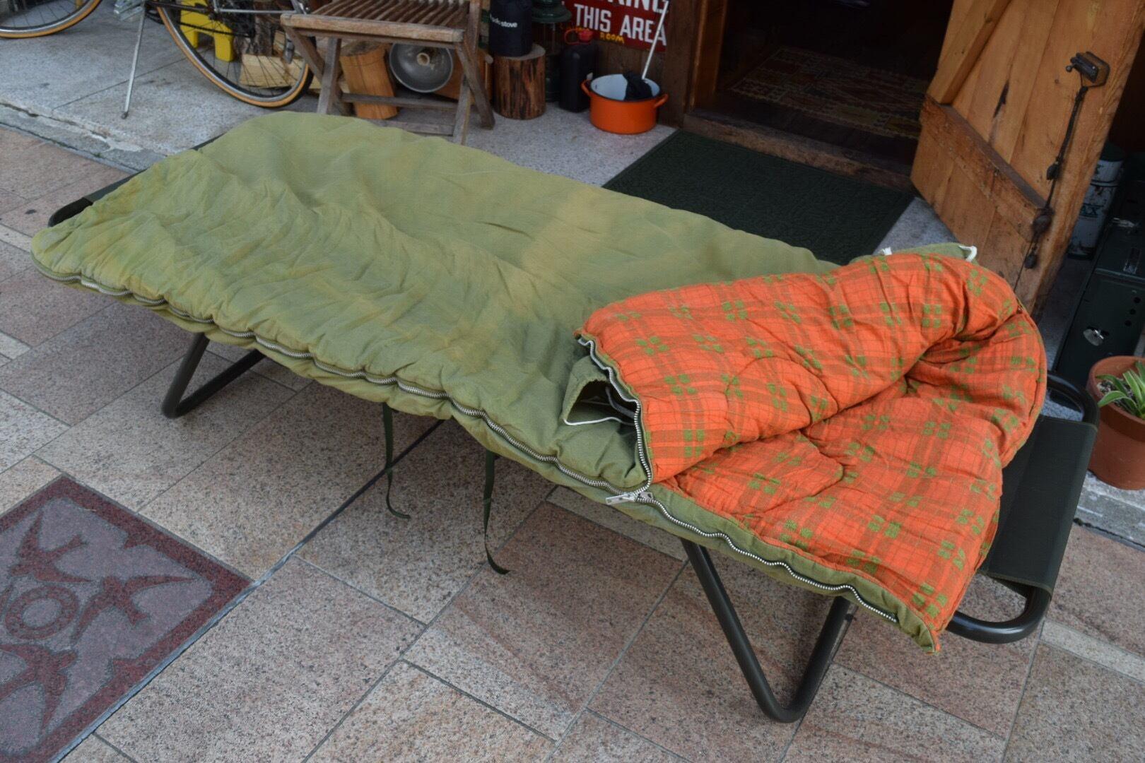 USED コールマン スリーピングバッグ ビンテージ 70s 寝袋 シュラフ