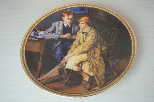ノーマンロックウェル 絵皿(114-20)