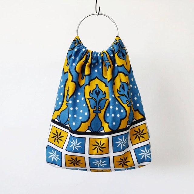 カンガのリングハンドルバッグ|アフリカ布 / アフリカンプリント