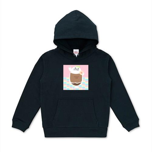 アザラシコーヒー / 10オンス キッズパーカー (United Athle)