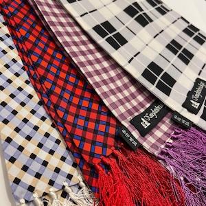 【Knightsbridge】Silk scarves (check)