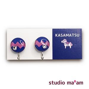 ■KASAMATSU-17 イヤリング。まる。〜ピアス変更可〜