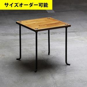 IRON BAR SIDE TABLE[AMBER COLOR]サイズオーダー可