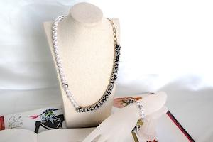 PearlSmile ndigo ribbon necklace