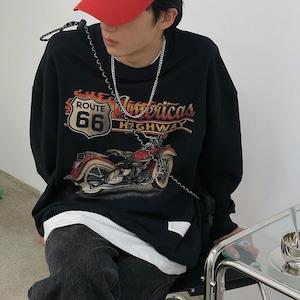 【人気No.9】レトロプリントスウェットシャツ YH0104