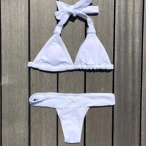 Bikini♡シンプルホルタービキニ ホワイト