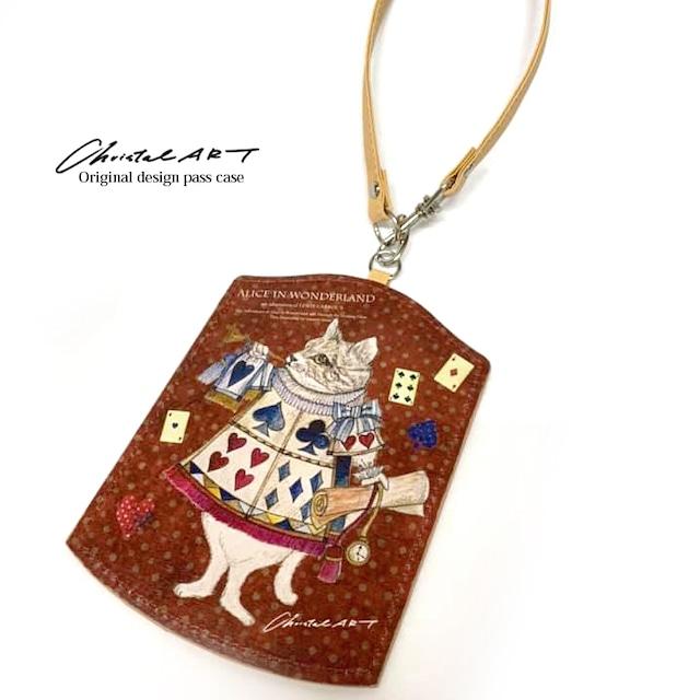 ◆即納◆「アリス(ネコ)」柄 ダイカットパスケース