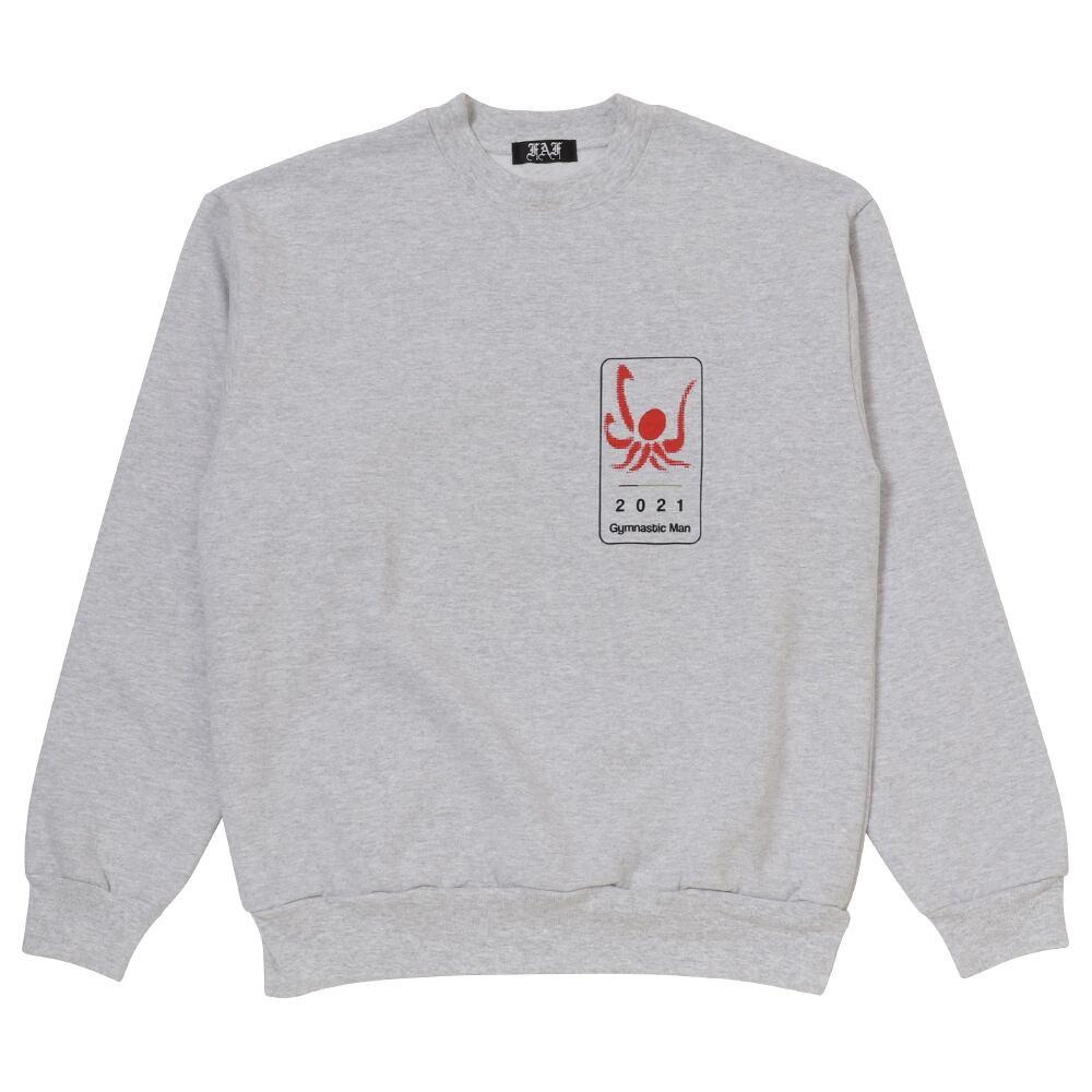 Gymnastic man Crewneck Sweatshirts / Gray - 画像1