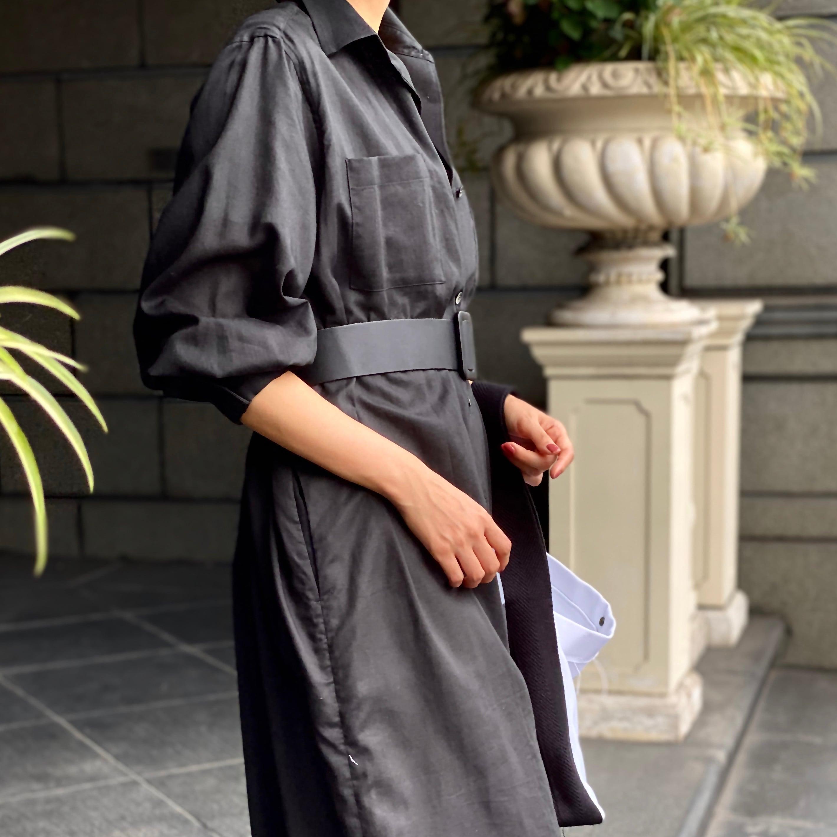 Air Coat Dress/BLACK