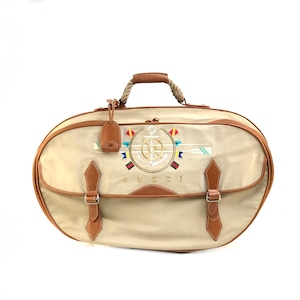 GUCCI グッチ アンカー刺繍 キャンバス×レザー ボストンバッグ ベージュ vintage ヴィンテージ オールドグッチ 6pf5rd