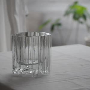 Tapio Wirkkala  'Arcadia' Crystal Vase Vintage Design Glass  Iittala Finland