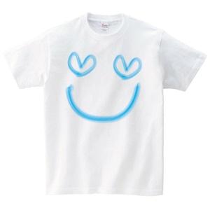 スマイル Tシャツ メンズ レディース 半袖 シンプル ゆったり おしゃれ トップス 白 30代 40代 ペアルック プレゼント 大きいサイズ 綿100% 160 S M L XL