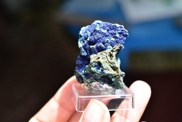 2つの石がひとつに★アズロマラカイト原石 azm004