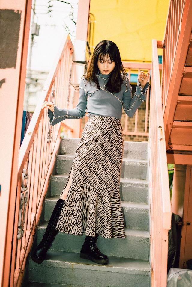 Fetish Zebra Skirt  (Brown)