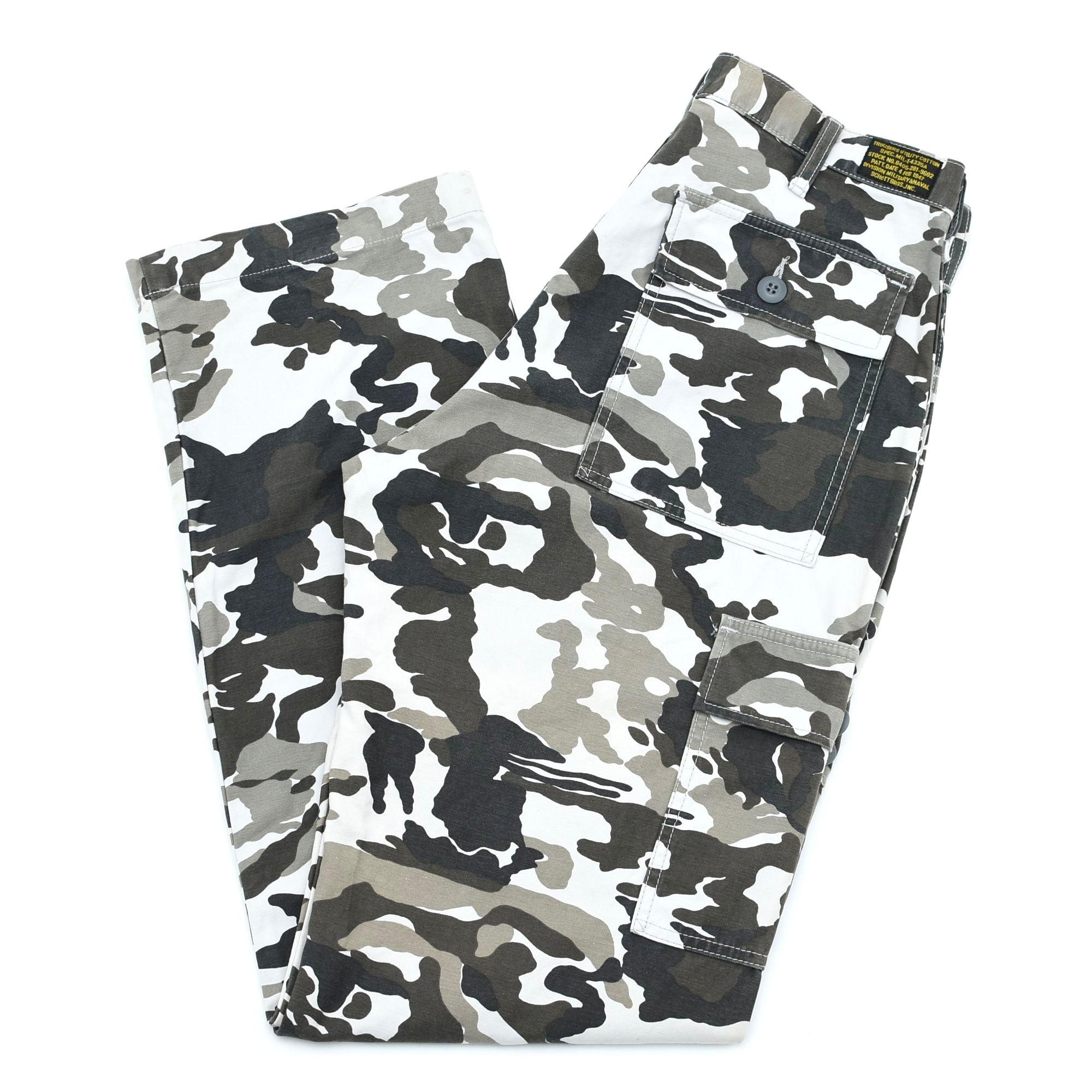 Schott N.Y.C camouflage cargo pants