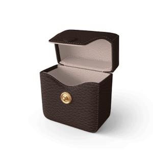 Air Pods Case Premer Shrink Leather (Cigar Brown)