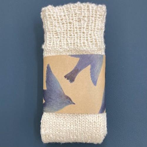 手編みシルク靴下