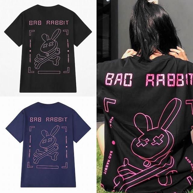 ユニセックス Tシャツ 半袖 メンズ レディース 「BAD RABBIT」 うさぎ ラビット プリント オーバーサイズ 大きいサイズ ルーズ ストリート TBN-624339587974