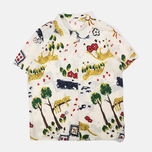 半袖柄シャツ|レディース シャツ・ブラウス 柄物 古着 個性的 春夏 オトナかわいい ウラハラ