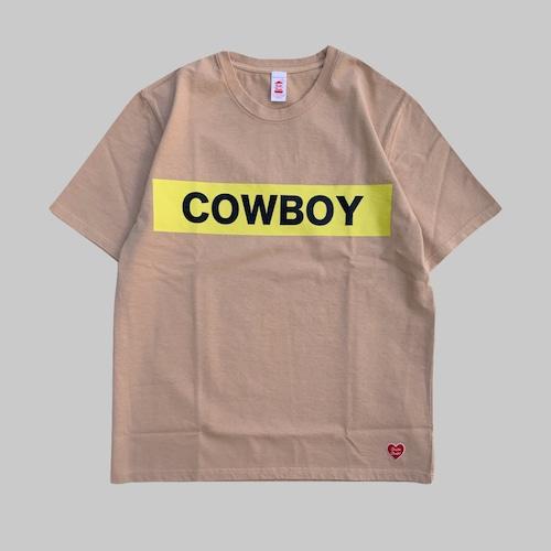 COWBOY S/S T-shirt  -BEIGE-