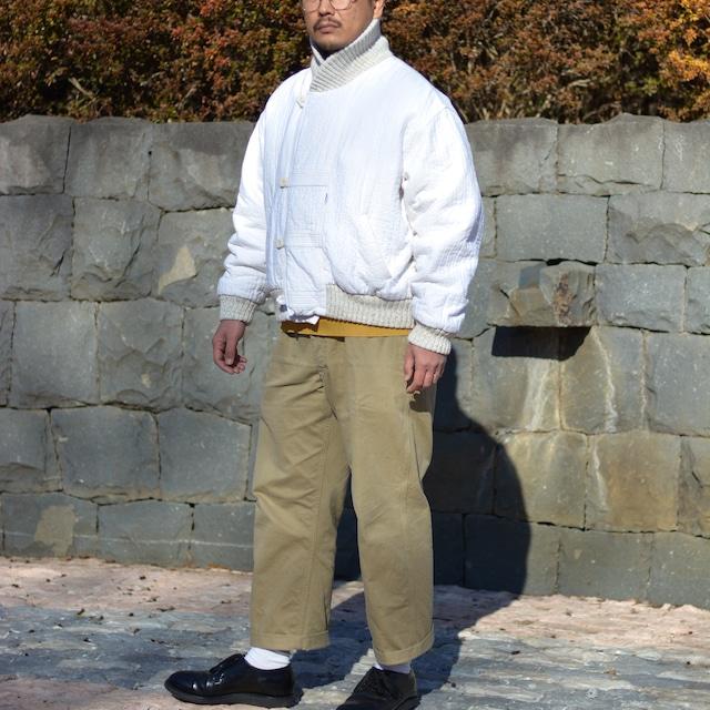 "【MADE IN FRANCE】CAPLANE ホワイトボンバージャケット ""BOMBER BLANC"""