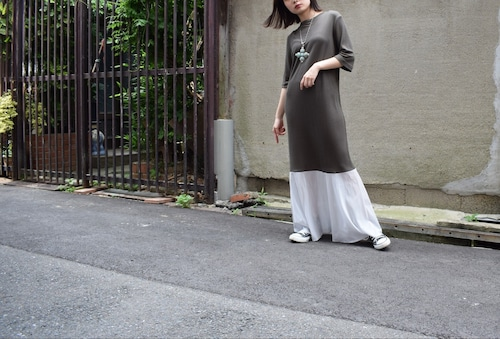 Jersey & mesh low created skirt