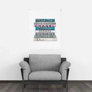 book illustration fabric poster 3size / ブランド イラスト ファブリックポスター 韓国