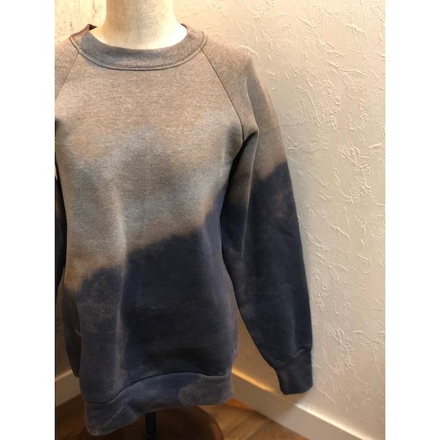 HIRAETH original bleach tye-dye sweat  GRY