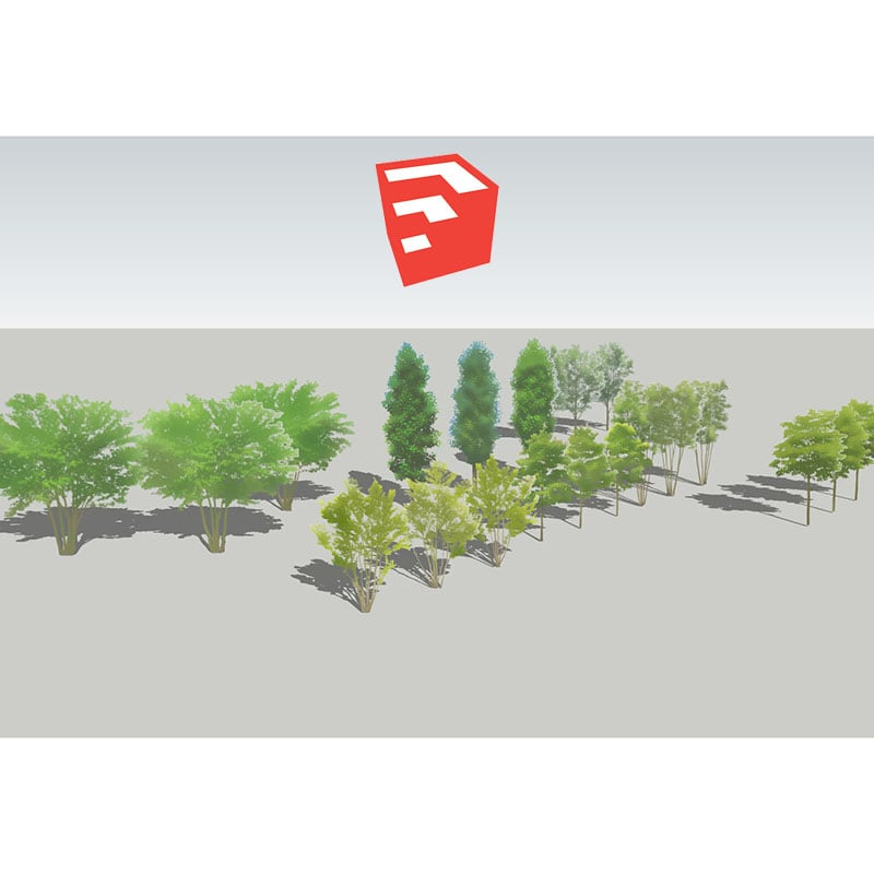 樹木イラストSketchUp 4b_003 - 画像1