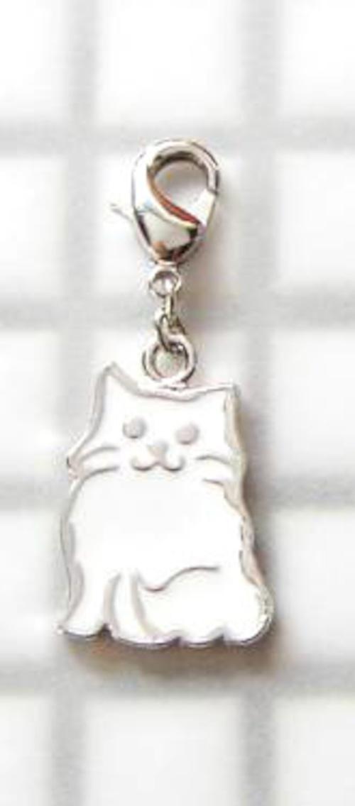 チャーム 洋猫(白)(E-1-001W)